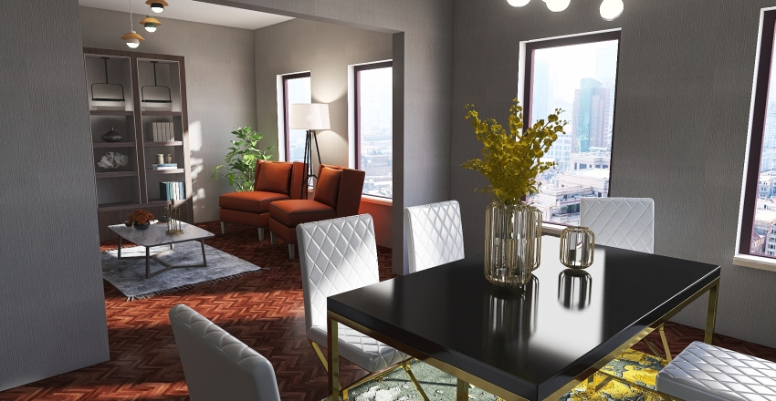 1674 Apartment Interior Design Render