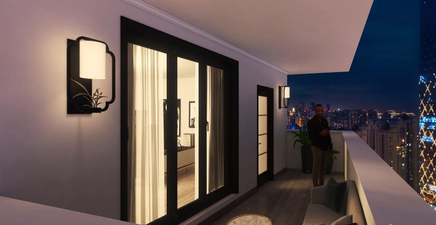BEDROOM BLACK ICE Interior Design Render