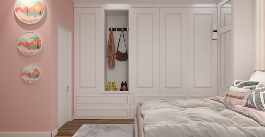 girl bedroom Interior Design Render