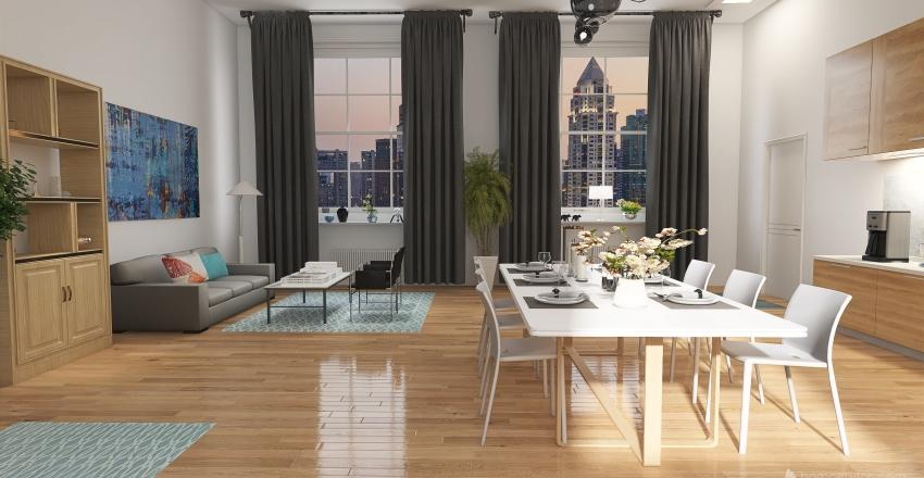 scandinavian style design Interior Design Render