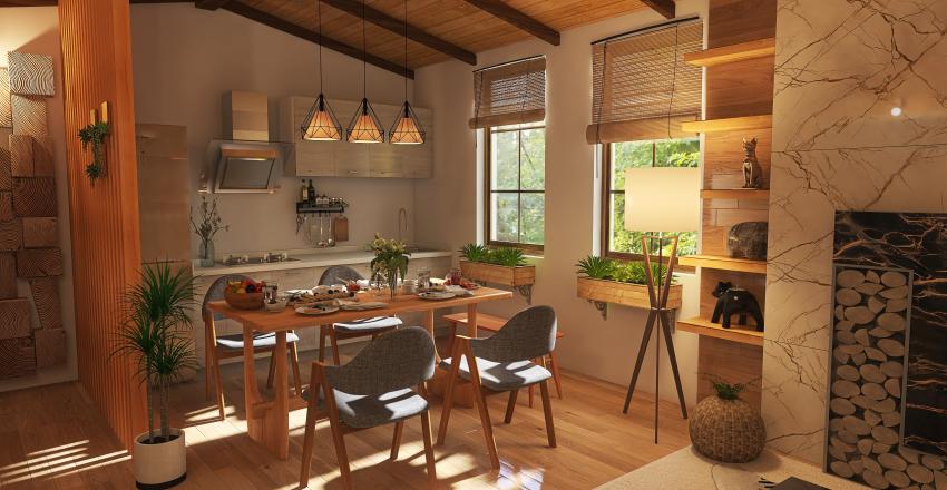 #HSDA2020Residential Rustic Studio Unit Interior Design Render