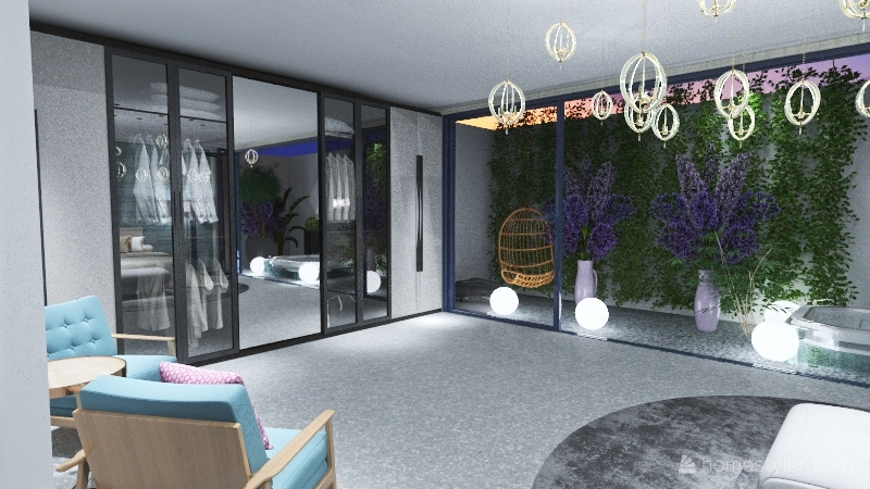 SASSY GOLD ROOM Interior Design Render