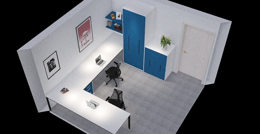 Office Space Interior Design Render
