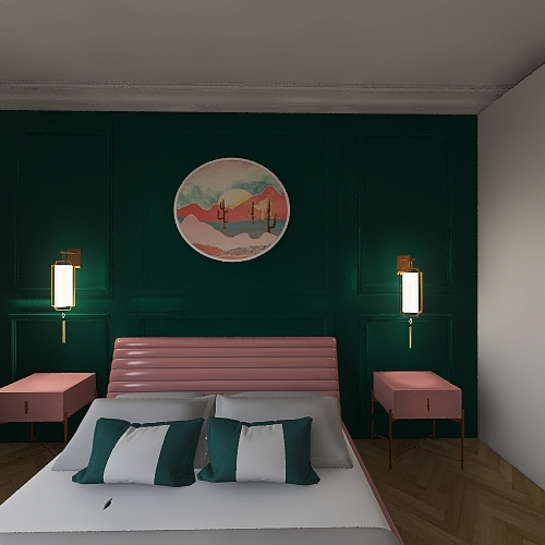 Art Deco Room Interior Design Render