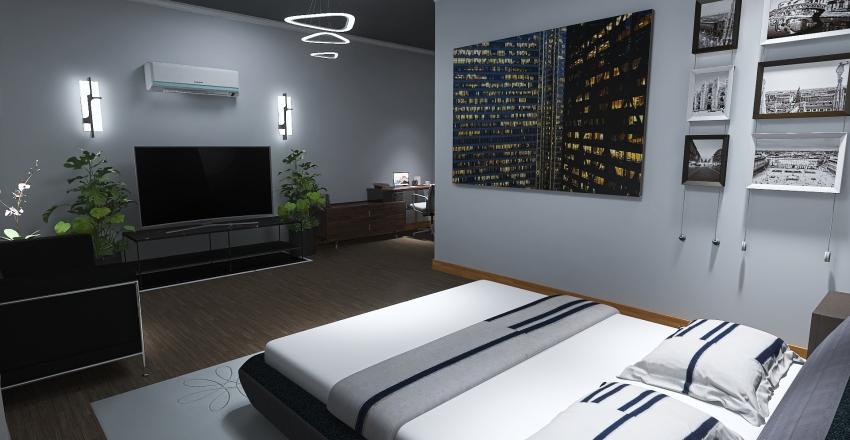 Minimalist bedroom Interior Design Render
