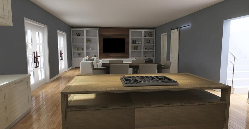 #HSDA2020Residential Modern Farmhouse Interior Design Render