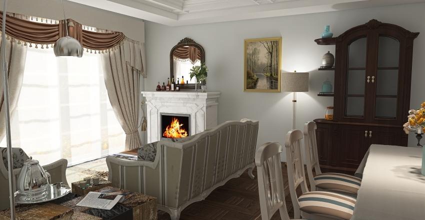English lovely home Interior Design Render