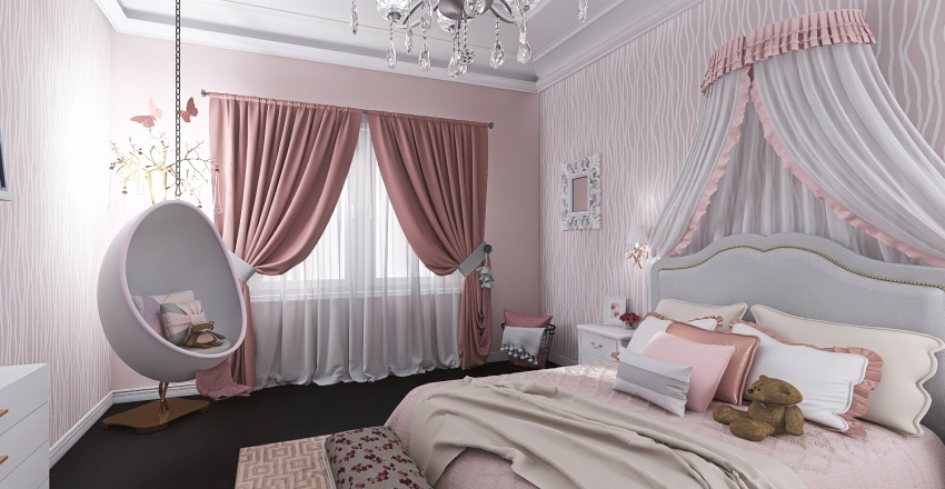 Fit for a Princess Interior Design Render