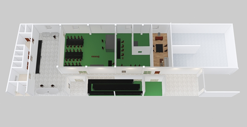 Nha xuong 2 Interior Design Render