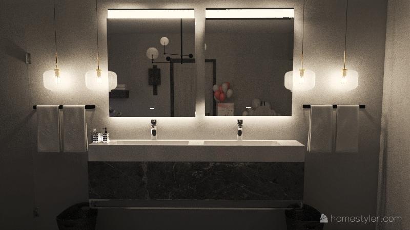 Honeymoon bathroom Interior Design Render