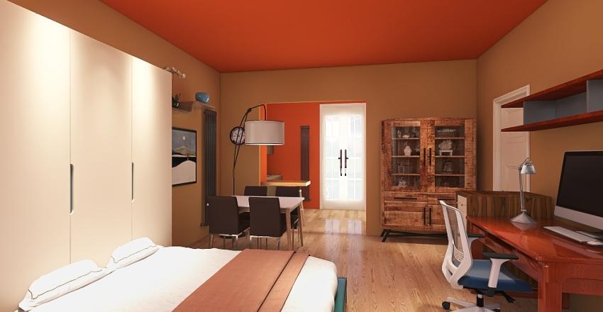 Copy of cucina monolocale 3 Interior Design Render
