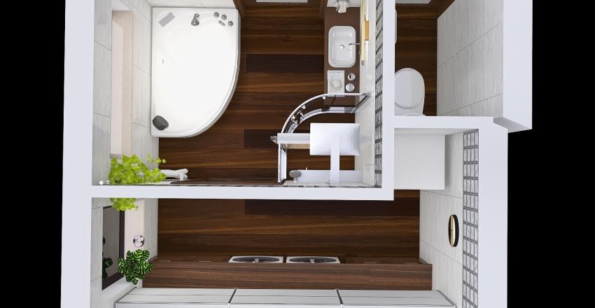 Bathroom, technical room, WC Interior Design Render