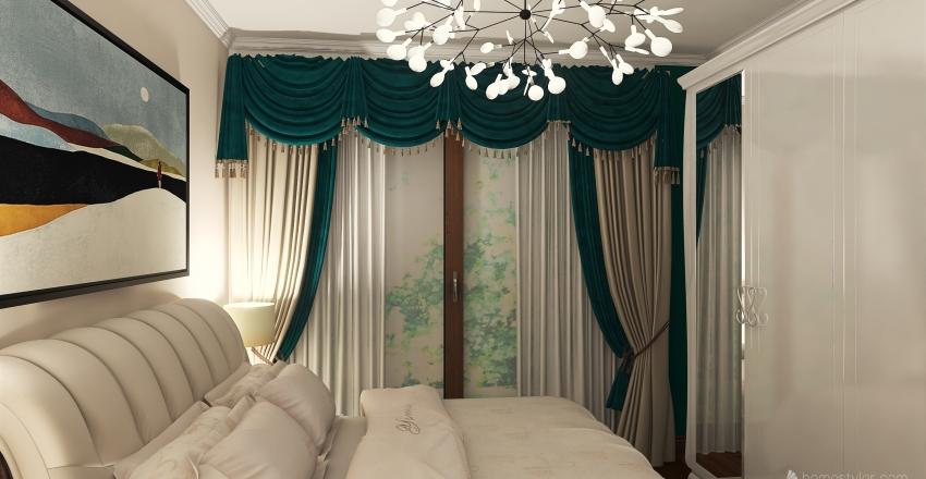 v2_Modern Small Apartment Interior Design Render