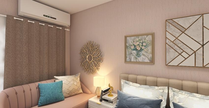 Dusty pink Interior Design Render