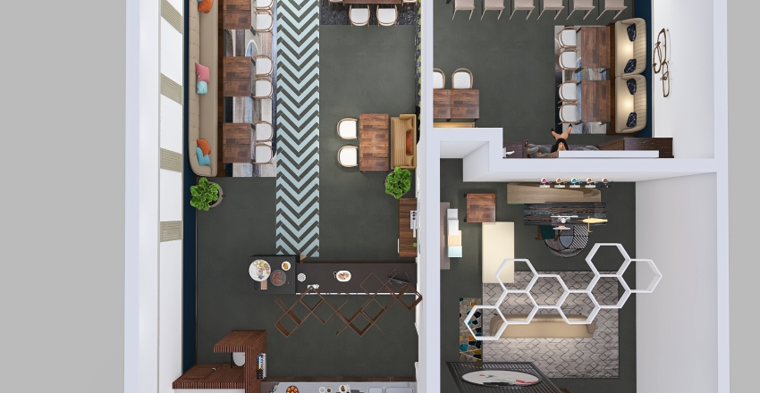 CAFE DULCE  AROMA-VERSION 3 Interior Design Render