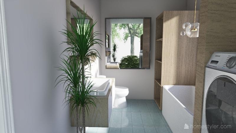simple dreamy home Interior Design Render