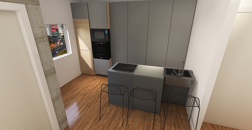 chalet la ribera - Santiago modificado copia 1 Interior Design Render