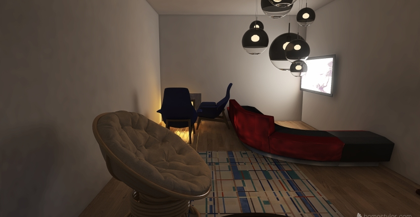 City house Interior Design Render