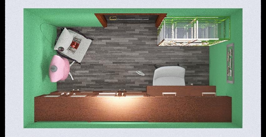 Sewing Room Interior Design Render
