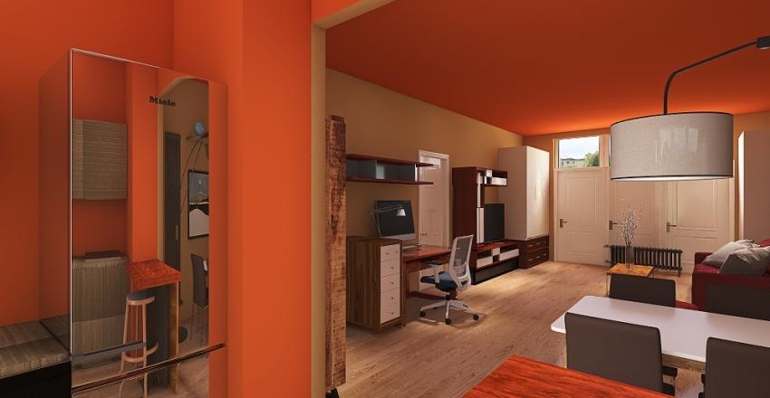 cucina monolocale 4 Interior Design Render