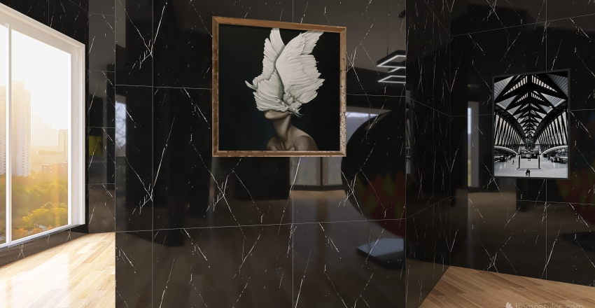 2020 Art Gallery Interior Design Render