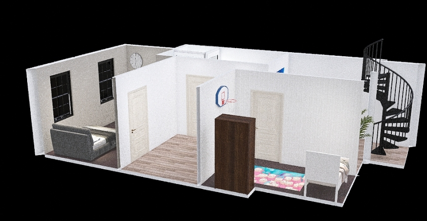 House CPT: Bedrooms Interior Design Render