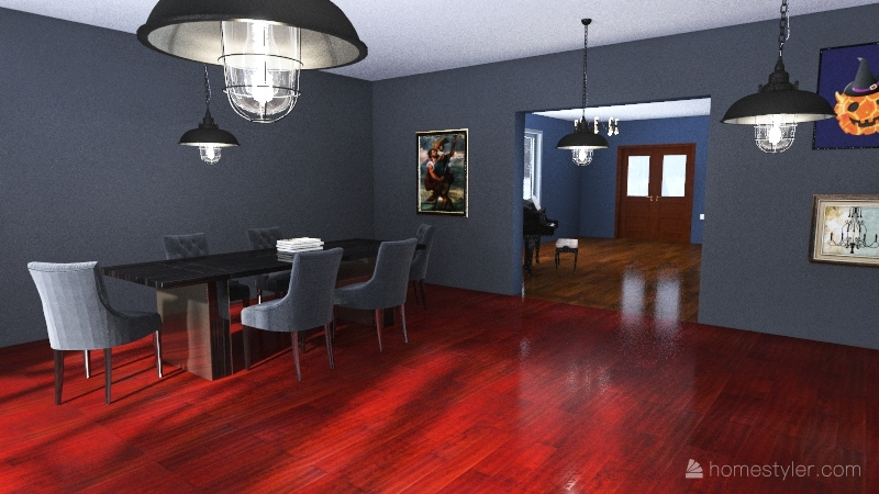 a country house Interior Design Render