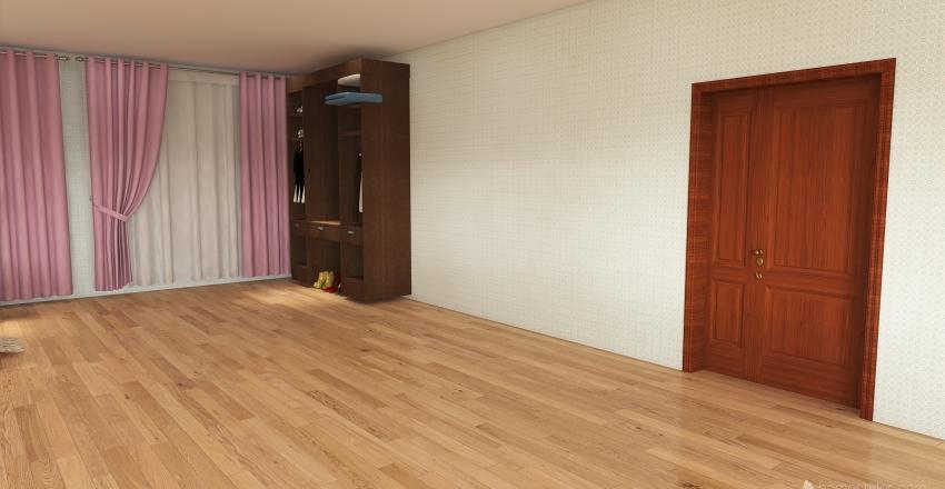 Bedroom and Bathroom Interior Design Render