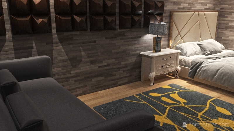 high end apartment Interior Design Render