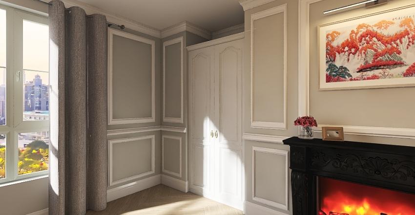 New York Master Suite Interior Design Render