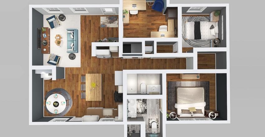 FCCLA Contest Floorplan Interior Design Render