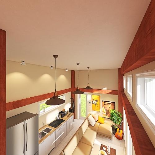Tiny House Interior Design Render