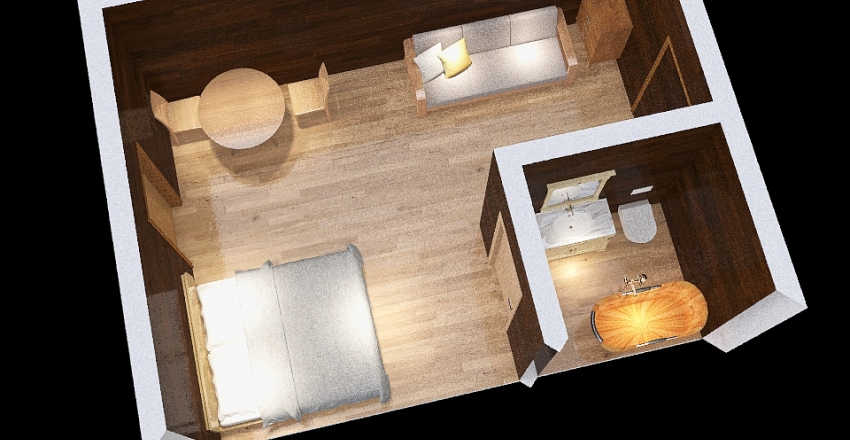 Habitat Shelter Interior Design Render