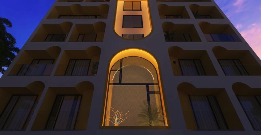 #HSDAresidentail Facade Interior Design Render