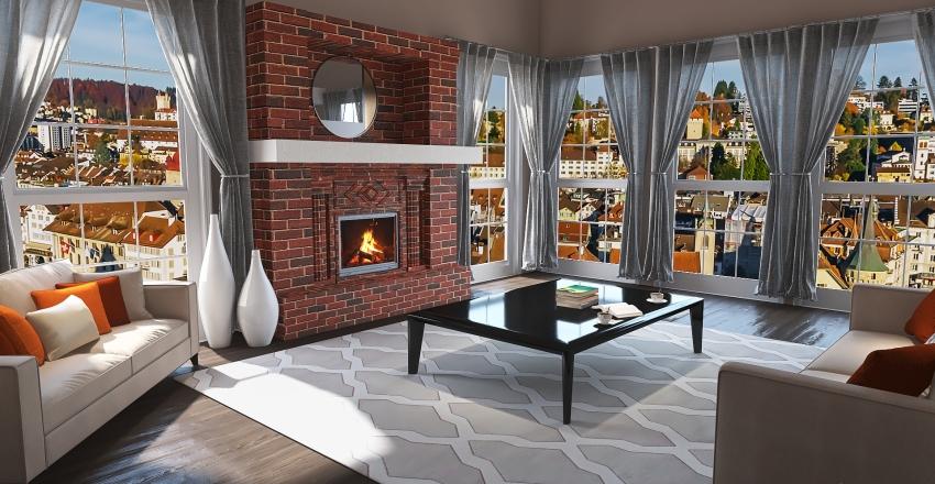 Cozy Apartment Loft Interior Design Render