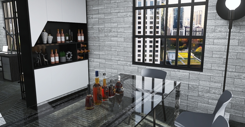 Single Man Apartment Interior Design Render