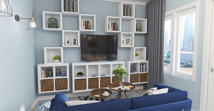 Mieszkanie w bloku Interior Design Render