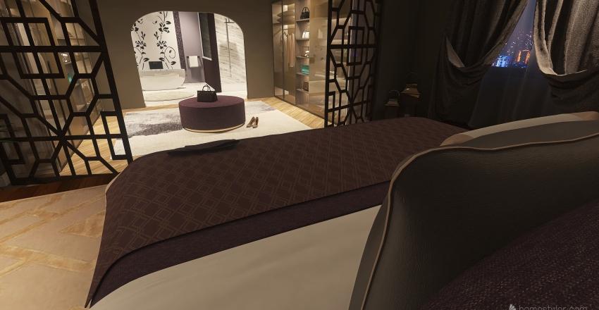 Luxurious Master Suite Interior Design Render