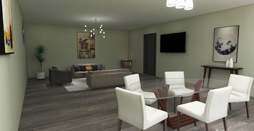 Sala/comedor Interior Design Render