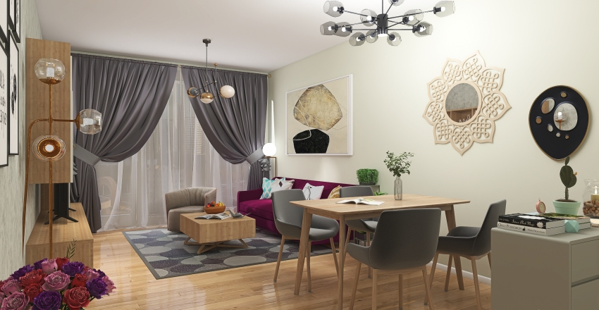 living-room Interior Design Render
