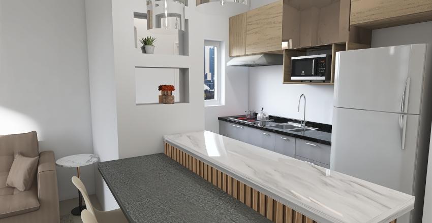 Cozinha Modulada Interior Design Render
