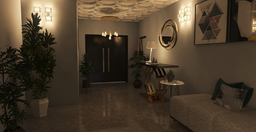 #HSDA2020Residential HillTop House Interior Design Render
