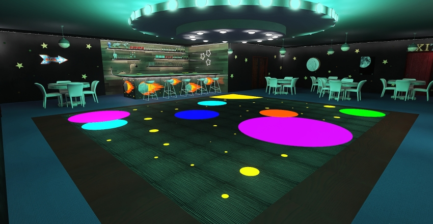 Supernova Nightclub Interior Design Render