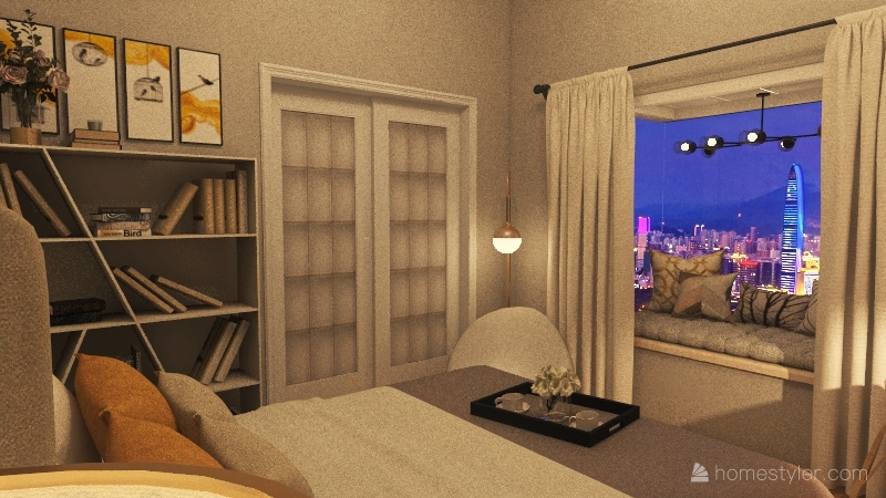 Bookworm Interior Design Render