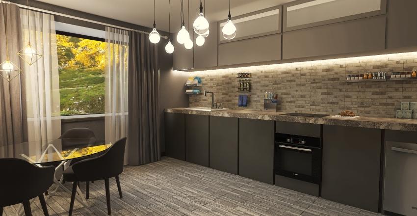 Project of Modern apartment Interior Design Render
