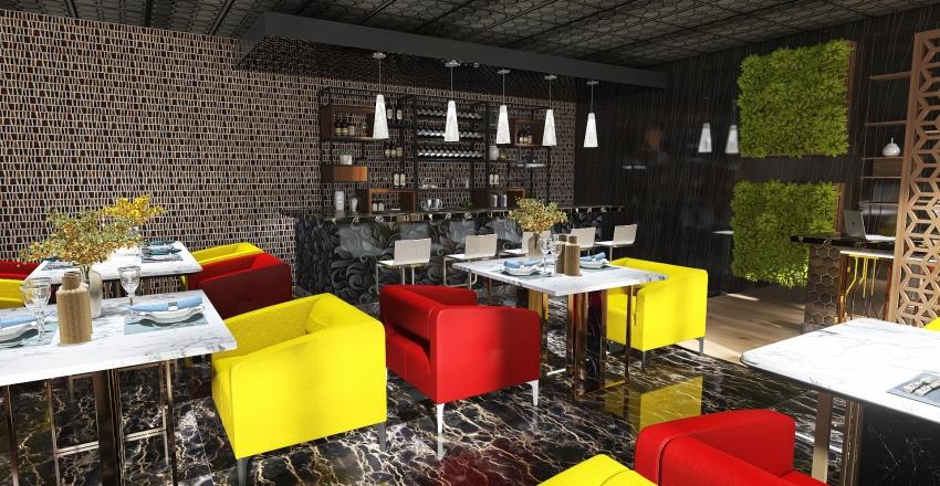 Elen's Diner- All Day Diner and Restaurant Interior Design Render