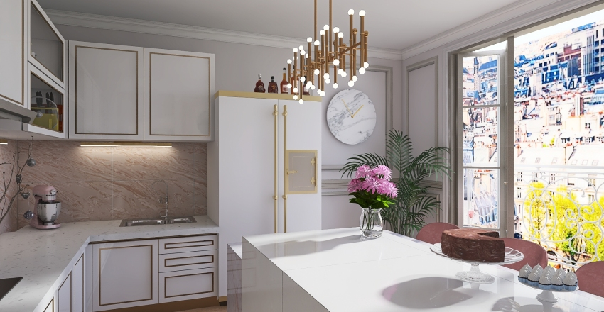 Parisian apartament Interior Design Render