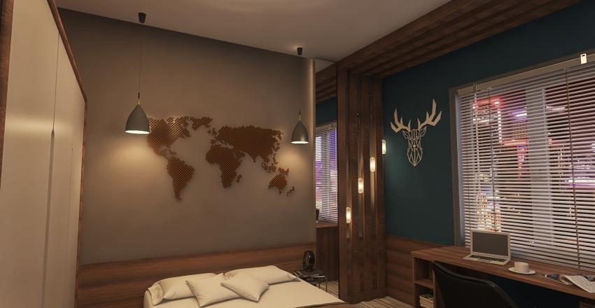 спальня мальчика 12 лет Interior Design Render