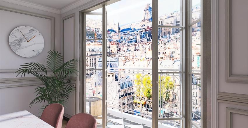 Parisian apartament Interior Design Render