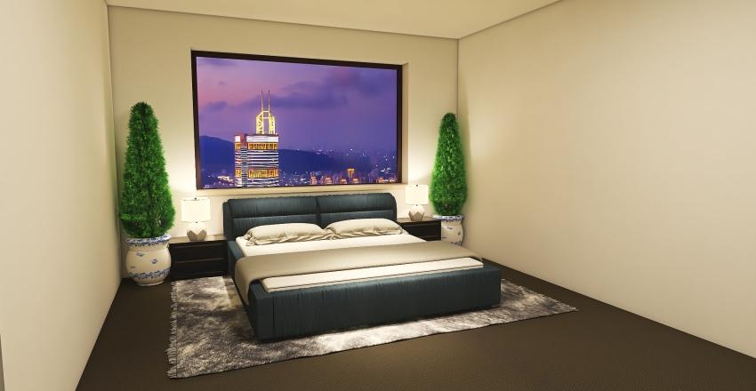 Modern Single Floor Apartment Interior Design Render